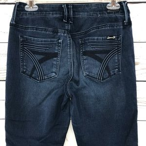 Seven7 Jeans Hi-Rise Ankle Skinny Mid-Rise Stretch